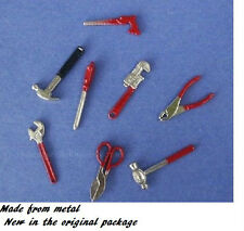 Miniature Dollhouse Set metal Tools 1:12 Scale Miniature xmas village Free Ship