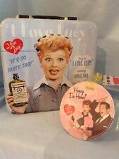 """I Love Lucy TinTote and LuggageTag 7.25"""" Square Tote  3.75"""" Luggage Tag $18.99"""