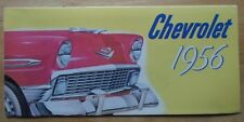 CHEVROLET 1956 range USA Mkt brochure - Bel Air Convertible Two-Ten etc