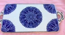 Vint Porcelain Bombay Serving Tray Cheese Platter Cutting Board China*