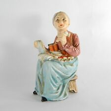 Collectible Figurine Old Woman Lady Grandma Holding Carrots Porcelain Ceramic