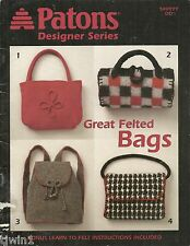 PATONS DESIGNER SERIES 500999 DD GREAT FELTED BAGS PATTERNS GREAT PATCH WORKS