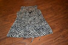 C9- Ann Taylor Sheer Zebra Print Sleeveless Top Size 2