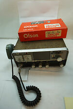 VINTAGE TUBE CB RADIO OLSON SIDE BANDER II WITH AMPLIFIER CHASSIS AM-341A 23 CHA