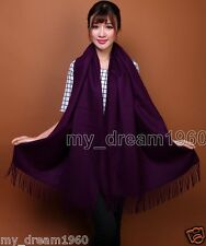 New Women's Fashion Soild Pashmina 100% Cashmere Soft Warm Wrap Shawl Scarf