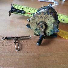 Antique Brass  fishing reel antique brass swivel  (lot#9123)