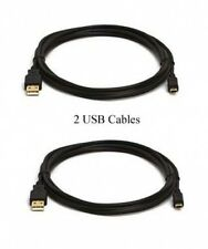 TWO 2 USB Cables for Canon VIXIA LEGRIA HF R38 R36 R306 HFM52 HFM50 HFM56 HFM506