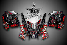 2010 - 2015 POLARIS PRO RMK - RUSH Decal Sticker Wrap Graphics Kit Hazard Red