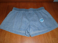 New Womens Size Large L 35W Old Navy Blue Denim Jean Shorts Elastic Waist Cotton
