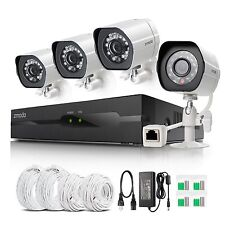 Zmodo 1080P 4CH NVR 2.0MP Network POE IR-cut Home Security Camera System NO HDD