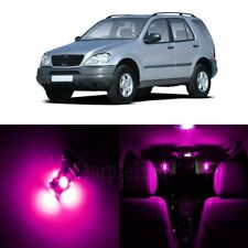 17 x Super Pink LED Interior Light Package For 1998-2005 Mercedes ML Class W163