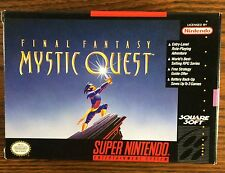 Final Fantasy Mystic Quest SNES In Box 1992 Squaresoft