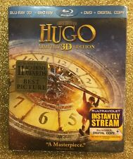Hugo 3D (Blu-ray 3D/Blu-ray/DVD/Digital Copy; Limited Ed, 2012) NEW w/ Slipcover