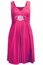 Women Plus Size Party Prom Bridesmaid Dress Top Ladies Buckle Maxi Cocktail 8 26
