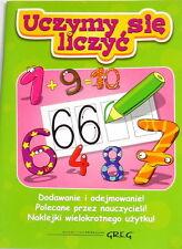 Polish Book Uczymy się liczyć. Ksiażka Edukacyjna. Learn to count