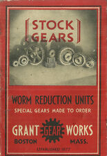 Grant Gear Works Catalog Worm Reduction Units 1930