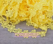 1 Yard Vintage Flower Lace Edge Trim Embroidered Fabric Sewing Applique Trim