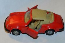 MC TOY RED PORSCHE 911SC 1/36 SCALE MADE IN MACAU PULL BACK ACTION