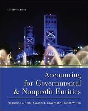 Accounting For Governmental And Nonprofit Entities  Jacqueline Reck Wilson 16th