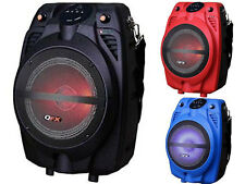 "QFX PBX-710700BTL 6.5"" Portable/Rechargeable Party Speaker +Bluetooth +RGB Light"