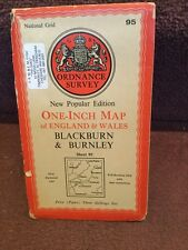 Old Ordnance Survey Map New Popular Ed Blackburn Burnley 95 Paper