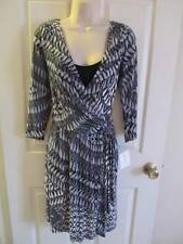 SUZI CHIN FOR MAGGY BOUTIQUE* BLACK DIAMOND FAUX WRAP KNIT DRESS 8 *NWT* $149