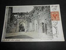 1902 ANAGNI PORTA SANTA MARIA VIAGGIATA 258 TIP. PISTOLESI ROMA ANIMATA
