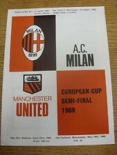 23/04/1969 European Cup Semi-Final: AC Milan v Manchester United [Manchester Pro