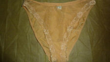 CHANTELLE Knickers Brief UK 12 14 YELLOW Lace French Lingerie LTD Chic FAB RARE!