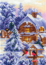 "Counted Cross Stitch Kit Make Your Own Hands - ""Seasons. Winter"""