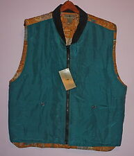 NWT Robert Stock Outdoorsman Silk Fly Fishing Filled Cardigan Vest L