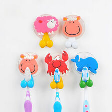 Porte brosse à dent ventouse mural support silicone animaux toothbrush holder