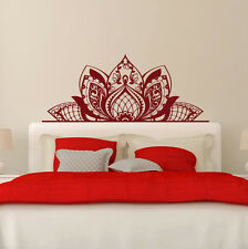MANDALA Decorate The BEDS Wall Vinyl Decal Lotus Decal Boho Decor Bedroom FD204