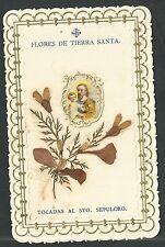Estampa antigua de Tierra Santa andachtsbild santino holy card santini