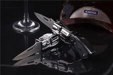 Folding Knife Windproof Refillable Butane Gas Trip Jet Flame Cigarette Lighter