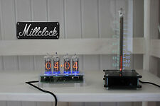 SET OF THE IN-14 NIXIE CLOCK  AND IN-13 NIXIE TUBE THERMOMETER FULLY ASSEMBLED