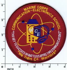 USMC Marines MCCES Communication Electronics School PATCH older style (red)