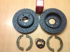 BMW X5 E53 3.0 3.0d 4.4 Rear MTEC Brake Discs and Pads Sensor Lead and Shoes