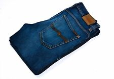 Nudie Jeans men blue denim size W34/L36 made in italy