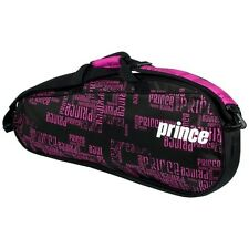 Brand New Prince Club 3 Pack Tennis Bag Black / Pink 2016
