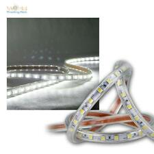 (10,5€/m) 5m LED Tira flexible blanco luz fría 230V regulable IP44 Banda de