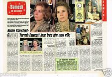 Coupure de presse Clipping 1986 (2 pages) Beate Klarsfeld ...Farrah Fawcett