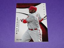 2015 Immaculate RYAN HOWARD #22 Premium SP/99 Philadelphia PHILLIES Missouri St