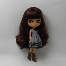 """12"""" Neo Blythe Doll from Factory Black Skin Nude Doll JSW48001"""