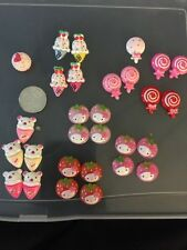 Set Of 29 Of Decoden Kawaii Cabochons. Ice Cream. Hello Kitty Star berries.candy