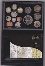 2011 ROYAL MINT BLACK DE-LUXE PROOF SET OF 14 COINS