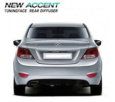 FIT HYUNDAI 2011 2012 2013 2014 Accent  Verna  Solaris Rear Bumper Diffuser 1Pcs
