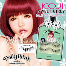 KOJI Dolly Wink False Eyelashes No.2 Sweet Girly (2 pairs/ box) NEW Version