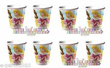 DISNEY PRINCESS 9oz Paper CUPS (8ct) ~ Birthday Party Supplies Tableware Drink