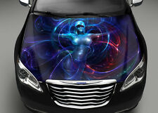 Abstract Girl Full Color Graphics Adhesive Vinyl Sticker Fit any Car Bonnet #036